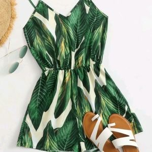RE-STOCKED!Tropical Print Romper